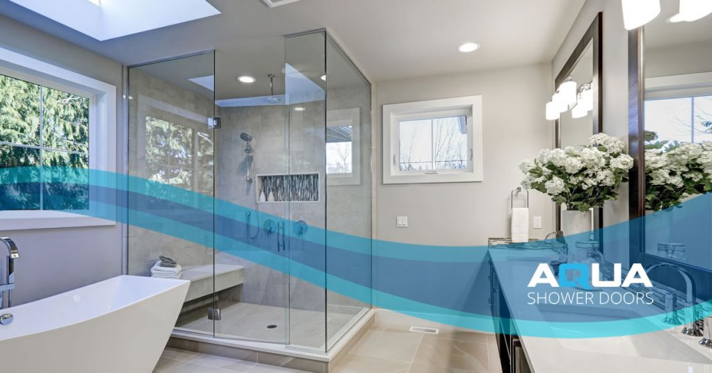 Frameless rolling shower doors Longboat Key