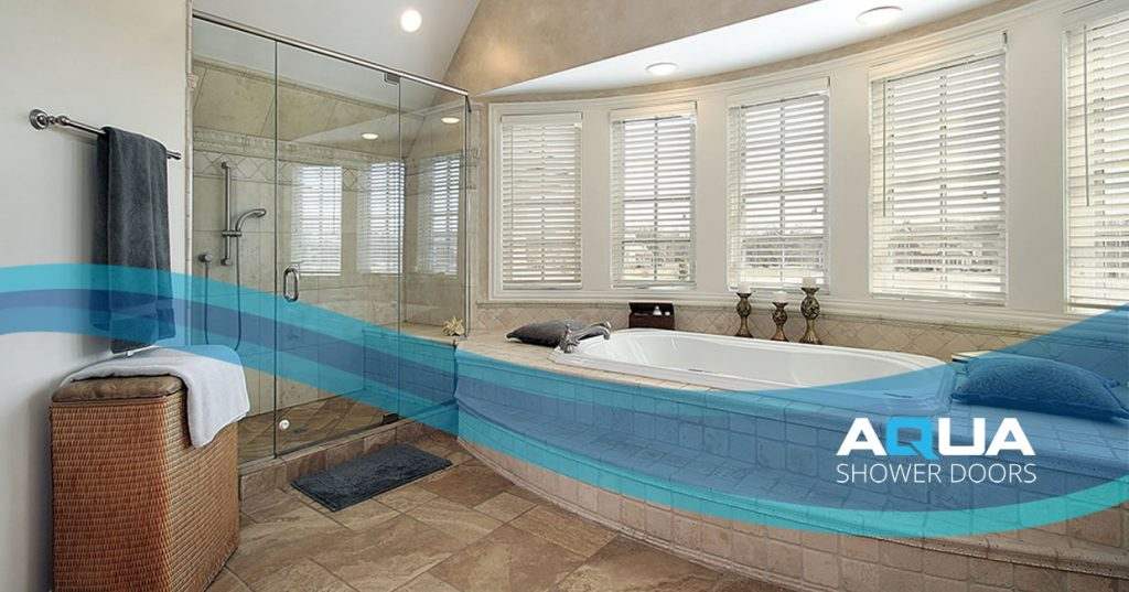 Frameless pivot shower doors in Sarasota Florida