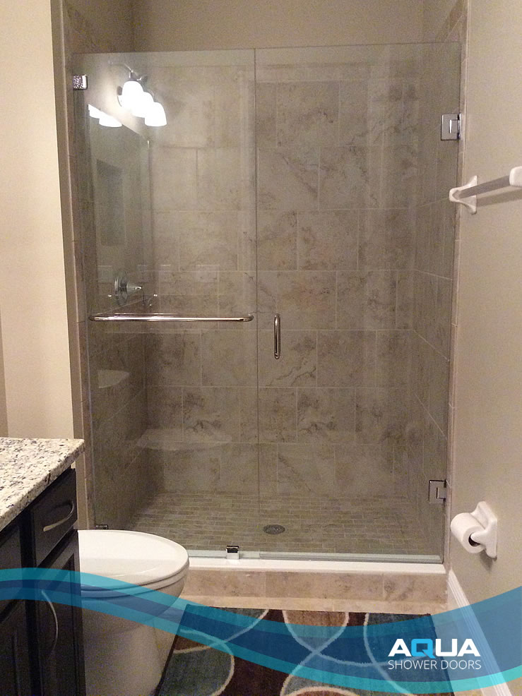 Frameless Inline Shower Door