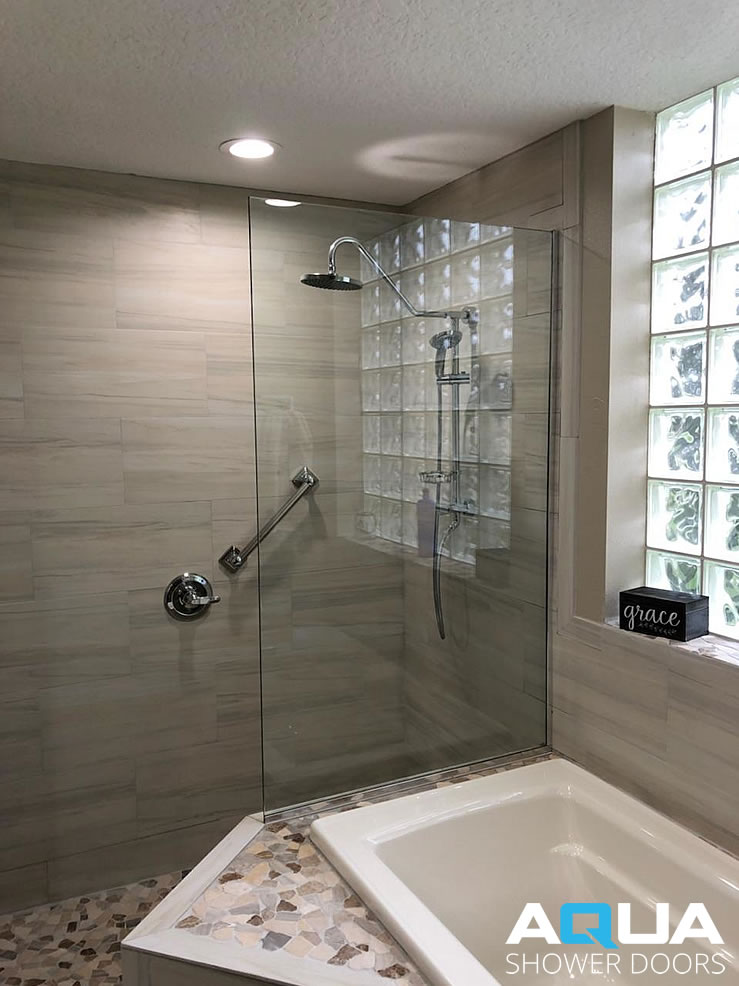Frameless Walk In Shower Glass Panel Aqua Shower Doors