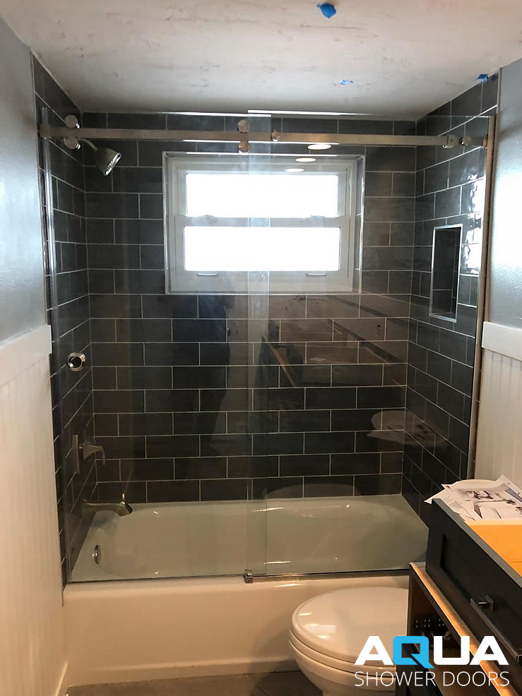 Frameless Clear Glass Serenity Quot Barn Style Quot Shower