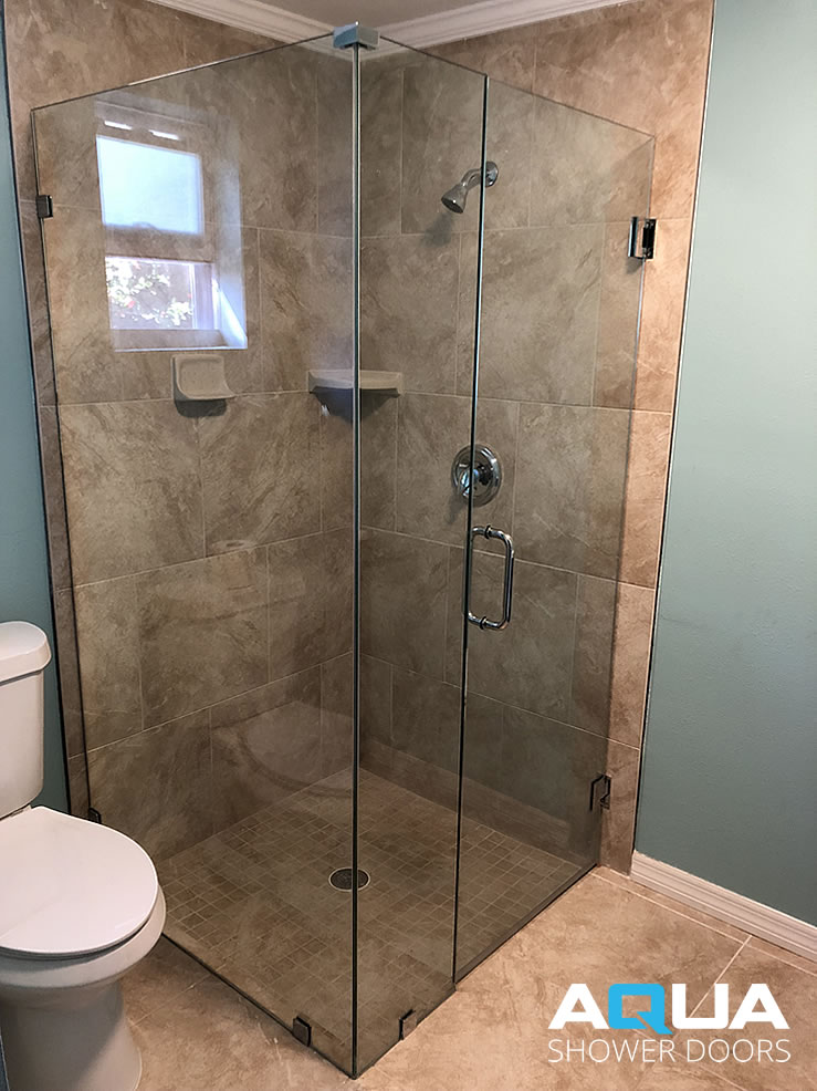 3 8 Quot Frameless 90 176 Angle Clear Glass Shower Enclosure