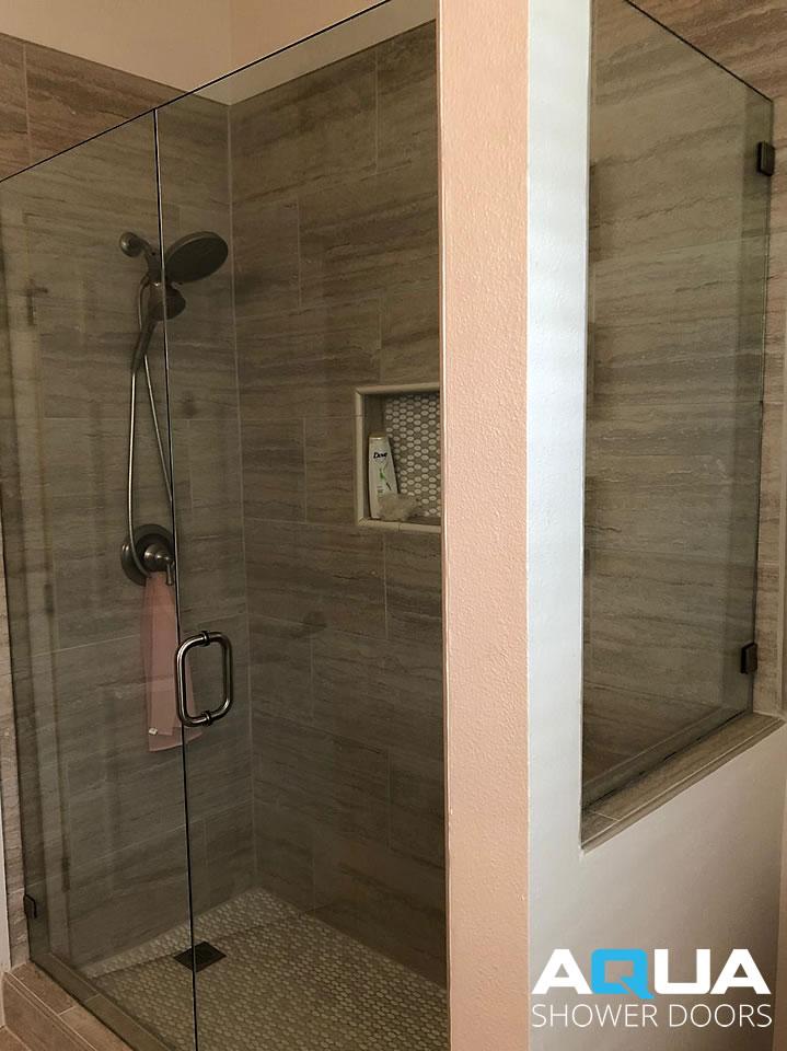 Frameless Shower Door -Inline Plus Fixed Glass Panel