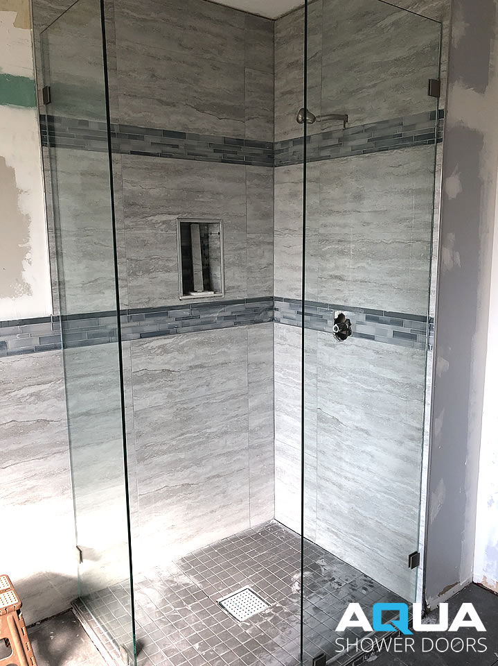 Walk-In Glass Shower Glass -Two Fixed Panels